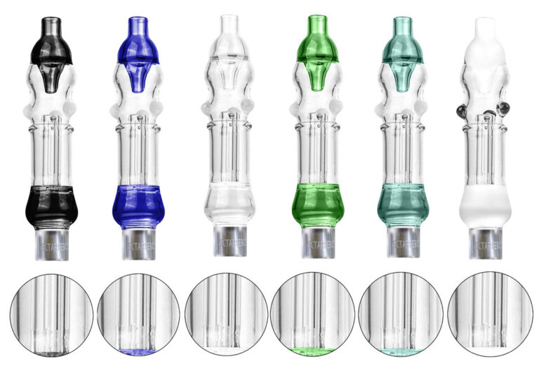 Nectarpercs 510 Threaded Mini Nectar Collector Dab Straw w Inline Perc